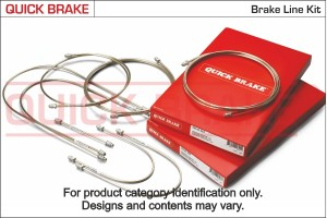 Quick Brake Remleiding set 8-delig VW Golf II/Jetta (19E, 1GE)